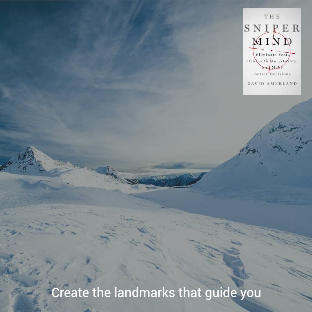 Create the landmarks you need to guide you in your journey towards the future you.