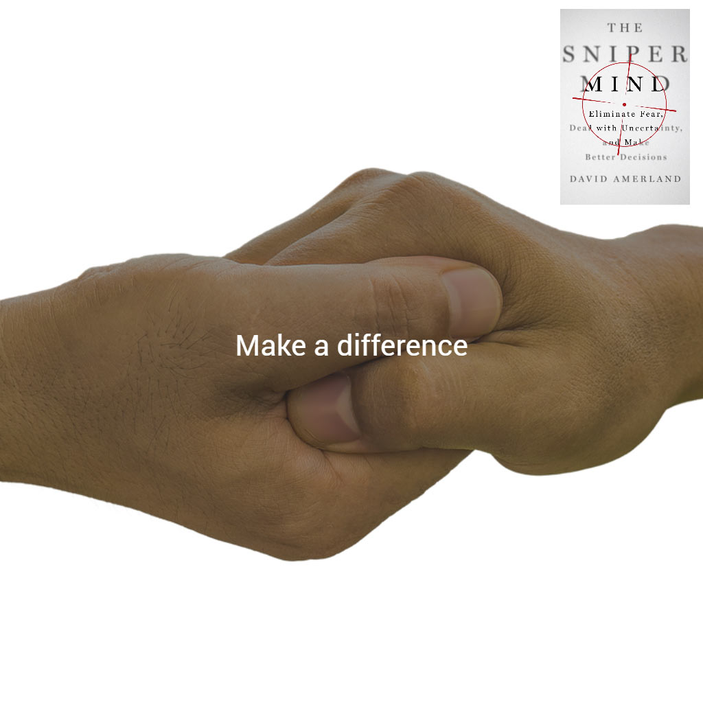 Make a Difference in someone's life, today.