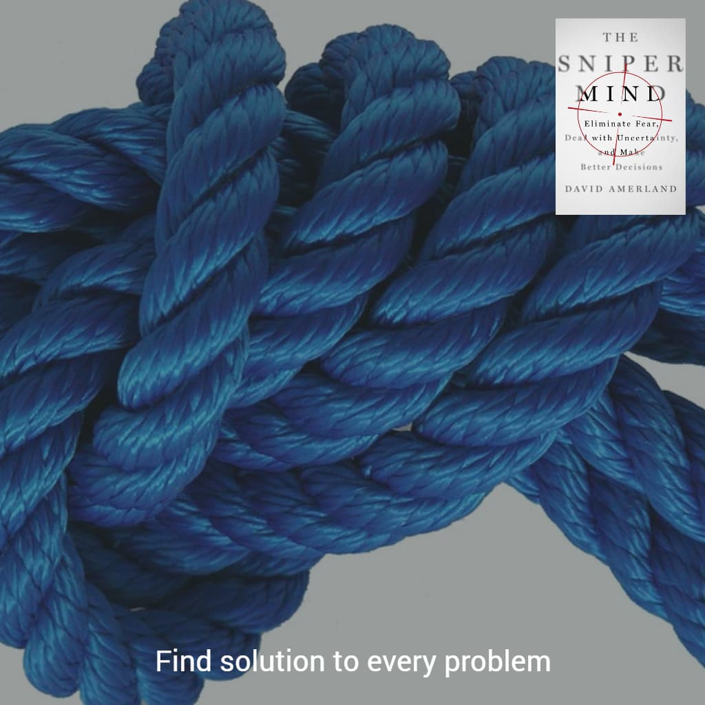 To find solutions we first need to get past the perceived obstacle of the problem
