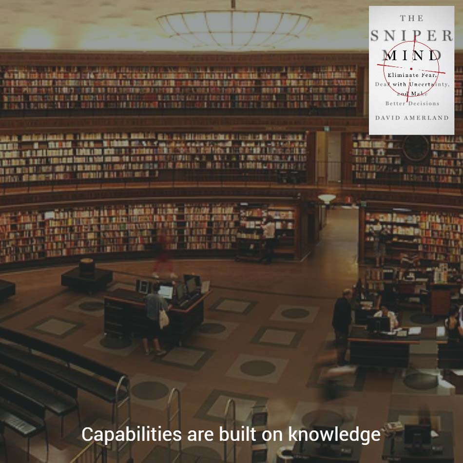 Knowledge is linked to capability
