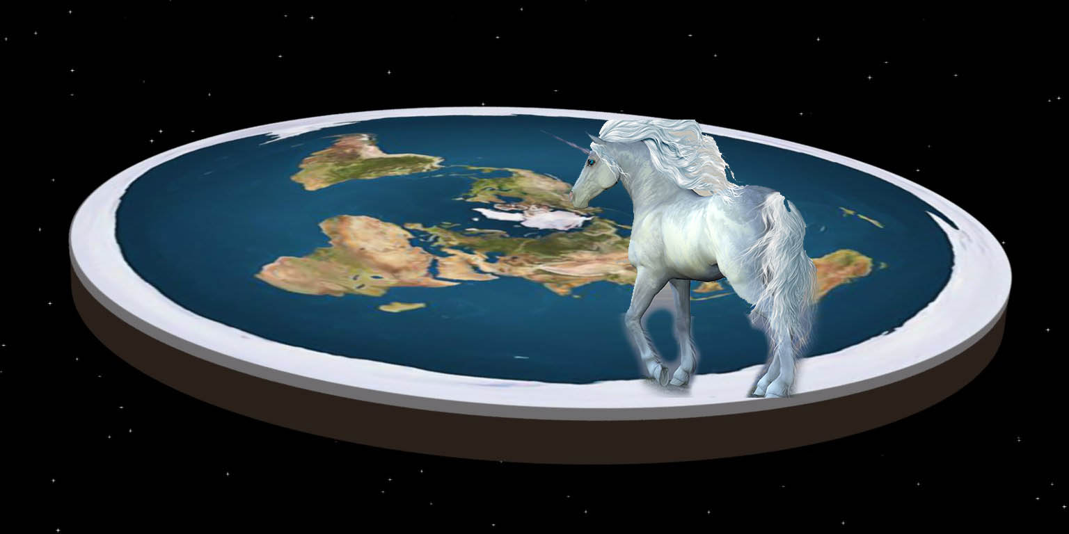 Flat Earthers See Unicorns