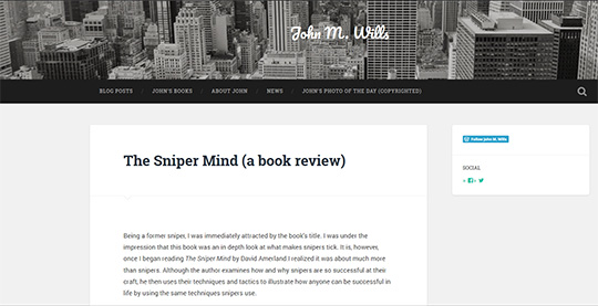 John Wills review of The Sniper Mind